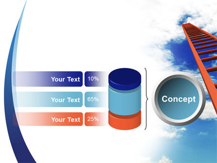 Ladder to Sky PowerPoint Template Slide 11