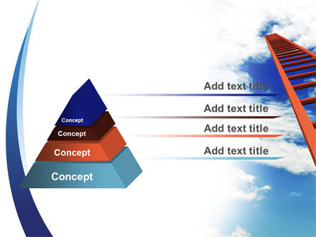 Ladder to Sky PowerPoint Template Slide 12