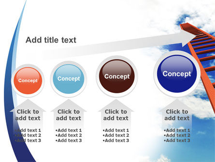 Ladder to Sky PowerPoint Template Slide 13