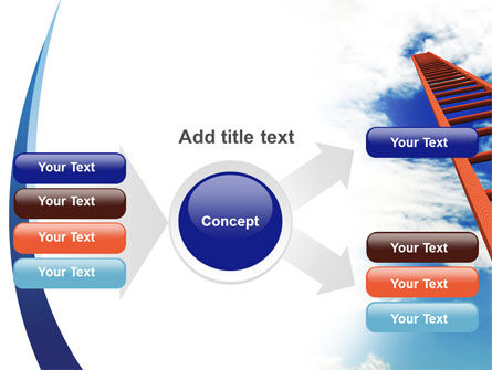 Ladder to Sky PowerPoint Template Slide 14
