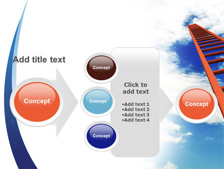 Ladder to Sky PowerPoint Template Slide 17