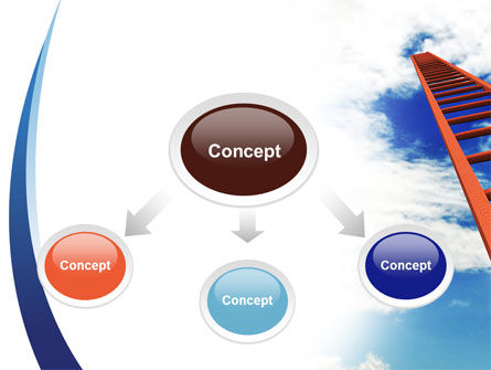 Ladder to Sky PowerPoint Template Slide 4
