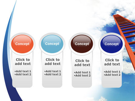 Ladder to Sky PowerPoint Template Slide 5
