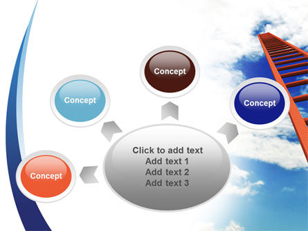 Ladder to Sky PowerPoint Template Slide 7