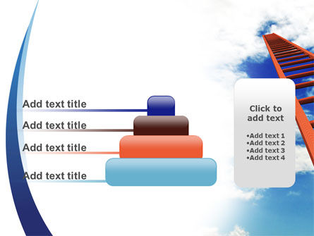 Ladder to Sky PowerPoint Template Slide 8