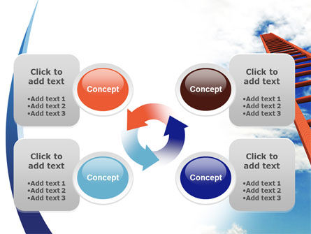 Ladder to Sky PowerPoint Template Slide 9