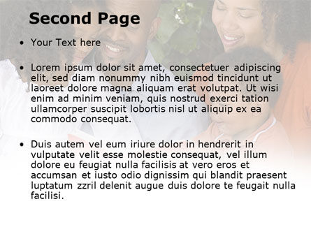 Happy Family Reading Bible PowerPoint Template, Slide 2, 08942, People — PoweredTemplate.com