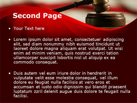 Justice and Court PowerPoint Template, Slide 2, 08943, Legal — PoweredTemplate.com