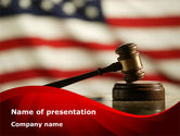 Justice and Court PowerPoint Template#1