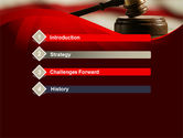 Justice and Court PowerPoint Template#3