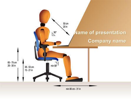 Ergonomics PowerPoint Template, 08944, Education & Training — PoweredTemplate.com