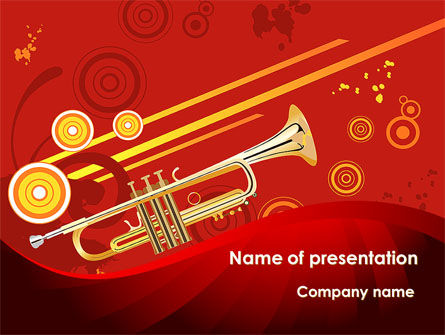 Trumpet Music PowerPoint Template