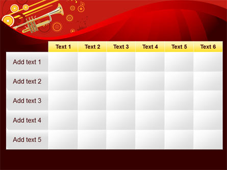 Trumpet Music PowerPoint Template Slide 15