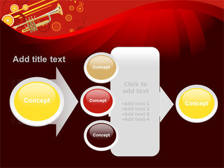 Trumpet Music PowerPoint Template Slide 17