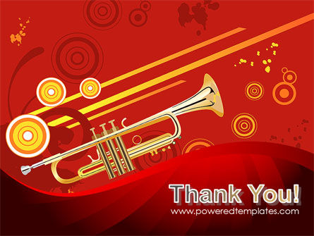 Trumpet Music PowerPoint Template Slide 20