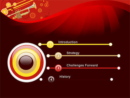 Trumpet Music PowerPoint Template Slide 3