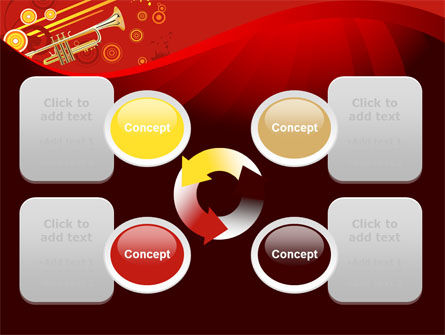 Trumpet Music PowerPoint Template Slide 9