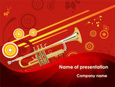 Art & Entertainment: Trumpet Music PowerPoint Template #08945