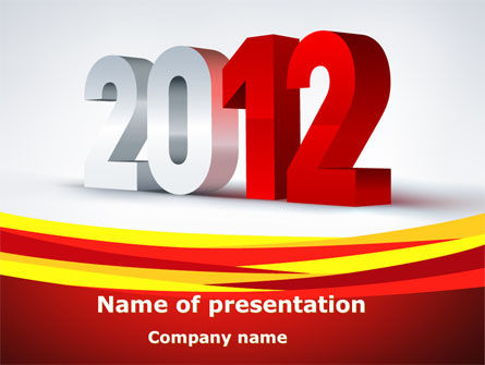Business: 2012 Year PowerPoint Template #08947