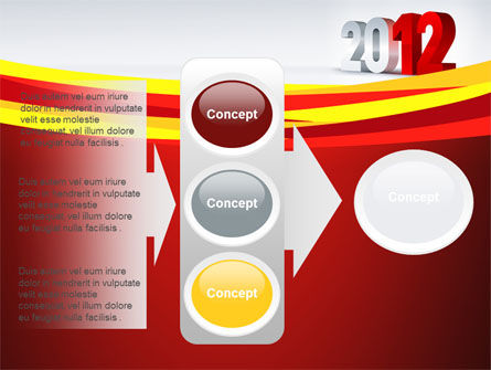 2012 Year PowerPoint Template Slide 11