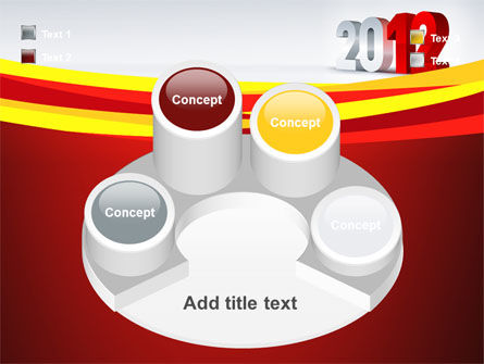 2012 Year PowerPoint Template Slide 12