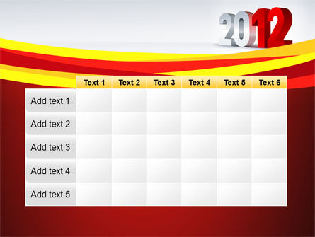 2012 Year PowerPoint Template Slide 15