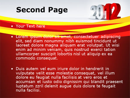 2012 Year PowerPoint Template Slide 2