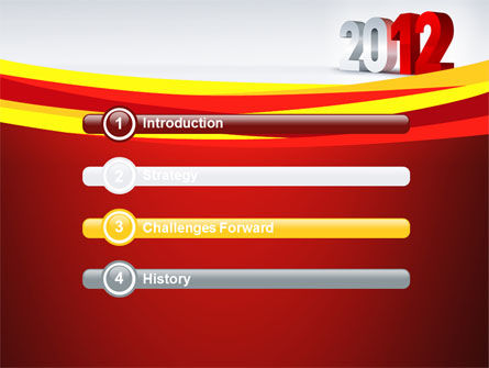 2012 Year PowerPoint Template Slide 3
