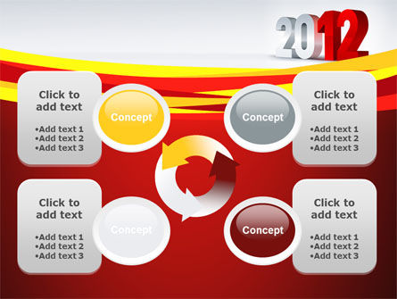 2012 Year PowerPoint Template Slide 9