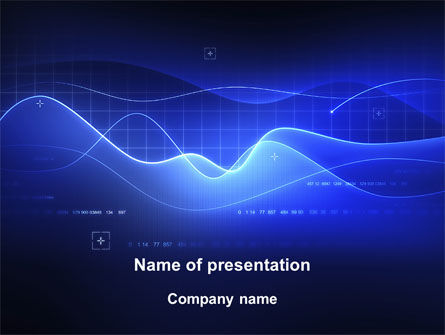 Technology and Science: Digital Blue PowerPoint Template #08948