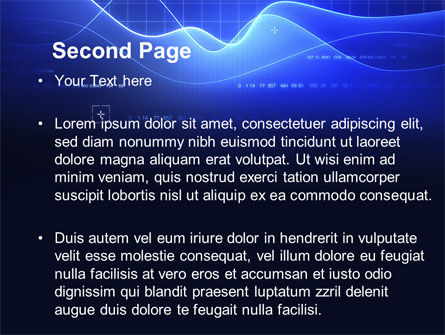 Digital Blue PowerPoint Template, Slide 2, 08948, Technology and Science — PoweredTemplate.com