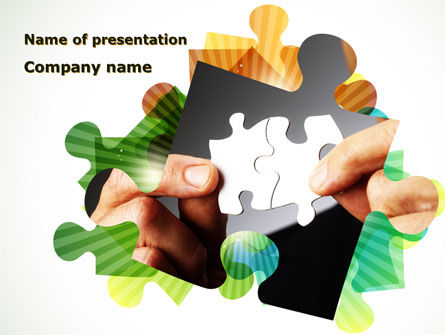 Consulting: Addition Of A Puzzle PowerPoint Template #08949