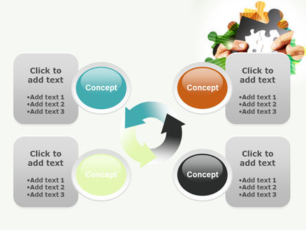 Addition Of A Puzzle PowerPoint Template Slide 9