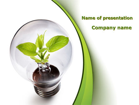Renewable Green Energy PowerPoint Template, 08950, Nature & Environment — PoweredTemplate.com
