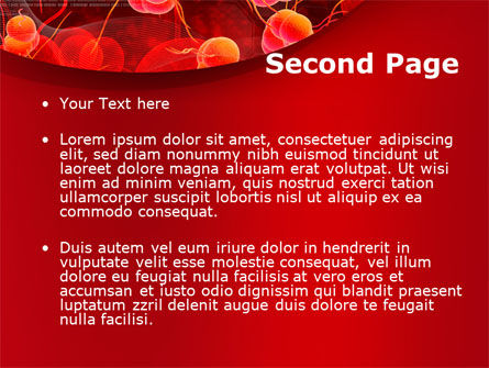 Blood Cells PowerPoint Template, Slide 2, 08953, Medical — PoweredTemplate.com