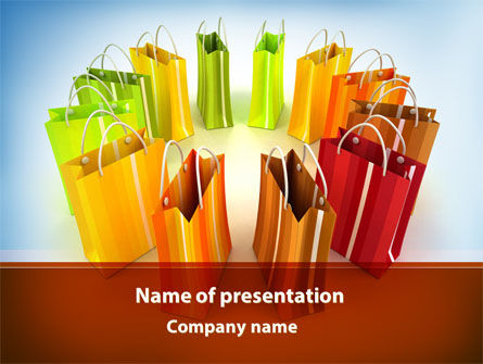 Shopping PowerPoint Template, 08954, Careers/Industry — PoweredTemplate.com