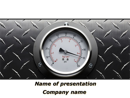 Utilities/Industrial: Pressure Gauge PowerPoint Template #08957