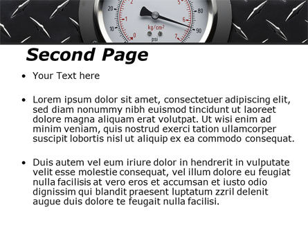 Pressure Gauge PowerPoint Template, Slide 2, 08957, Utilities/Industrial — PoweredTemplate.com