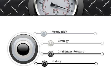 Pressure Gauge PowerPoint Template, Slide 3, 08957, Utilities/Industrial — PoweredTemplate.com