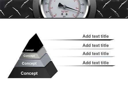 Pressure Gauge PowerPoint Template, Slide 4, 08957, Utilities/Industrial — PoweredTemplate.com