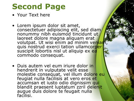 Green Tree PowerPoint Template, Slide 2, 08958, Nature & Environment — PoweredTemplate.com