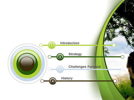 Green Tree PowerPoint Template, Slide 3, 08958, Nature & Environment — PoweredTemplate.com