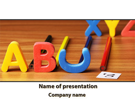 Educational Letters PowerPoint Template