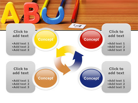 Educational Letters PowerPoint Template Slide 9
