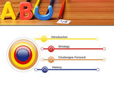 Educational Letters PowerPoint Template#3