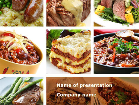 Cooked Food Powerpoint Template, Backgrounds | 08962