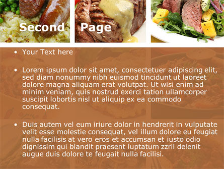 Cooked Food PowerPoint Template Slide 2