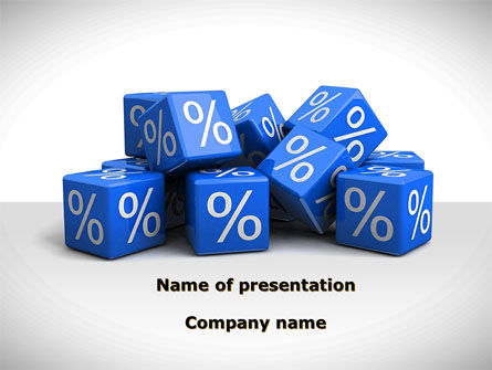 Financial/Accounting: Percent Cubes PowerPoint Template #08963