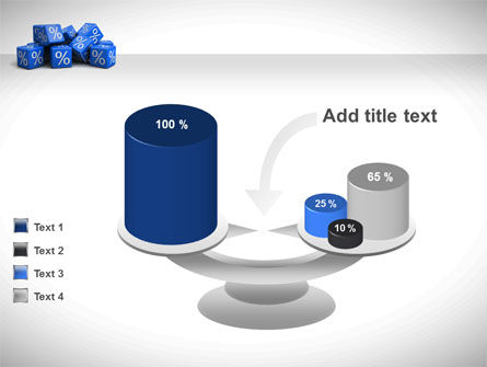 Percent Cubes PowerPoint Template Slide 10