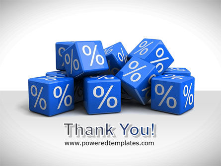 Percent Cubes PowerPoint Template Slide 20